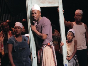 Zoleka Mpotsha, Ayanda Tikolo, Siphosethu Juta & Luvo Tamba in A Man of Good Hope © Keith Pattison